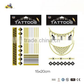 Ready-made metallic tattoo in 2015