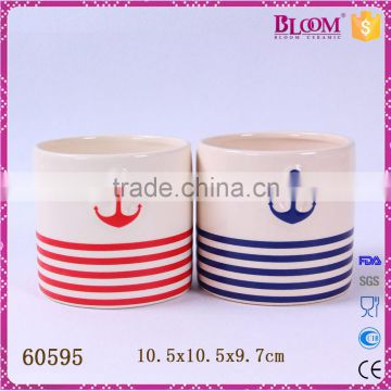 customization ceramic round shape small flower vase insert