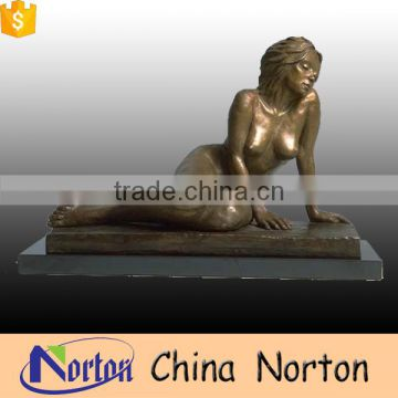 indoor casting brass nude female statue design NTBH-S798X