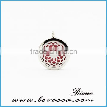 Aromatherapy Necklace Diffuser Pendant Stainless Steel Essential Oil Perfume