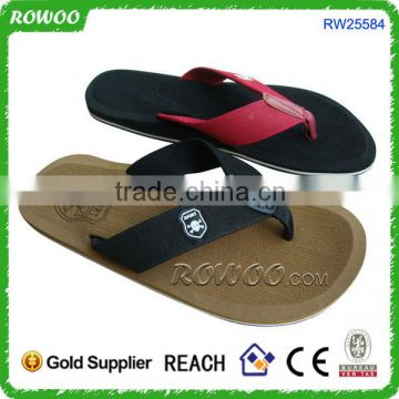 2016 New China Hottest Nice Casual Serials Textile Upper Rubber Sole Slippers