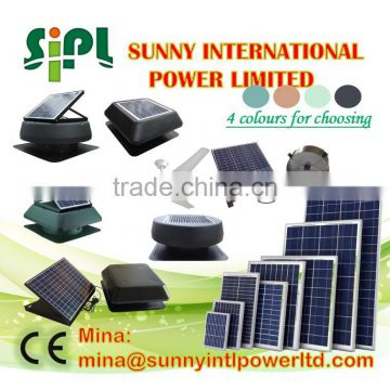 Sunny solar Panel air conditioner With Control Panel Attic Air Ventilation Fan solar vent kits Poultry Farm Ventilation Roof Fan