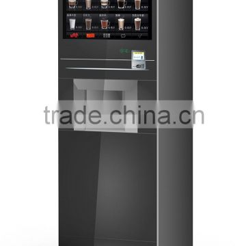 IN8CP automatic instant coffee vending machine with coin operator cup dispenser