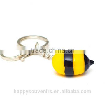 Custom bee cartoon key chain holder/keyholder