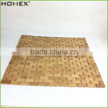 High quality bamboo living room floor mat Homex-BSCI