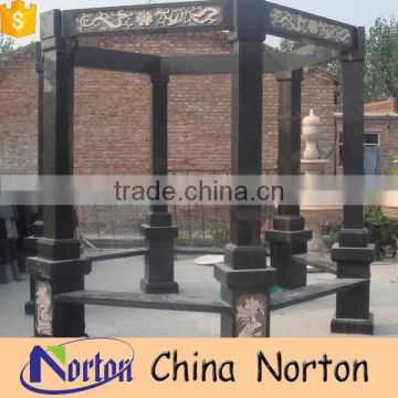 Custom waterproof garden black stone gazebo design NTGM-012Y