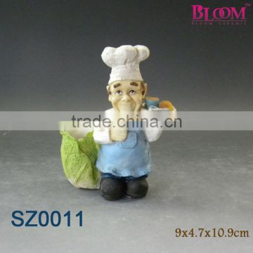 Resin cooking chef design toothpick holder