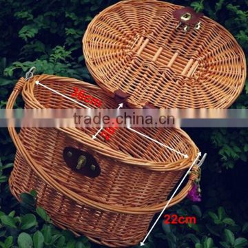 Cheap wicker basket bicycle