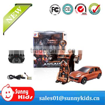 2.4G Radio control toy transform robot RC transform car for kids