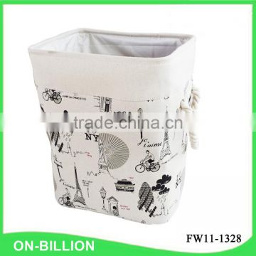 Heavy canvas collapsible fabric laundry basket
