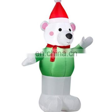 Wholesale inflatable snowman, led christmas decor, led light inflatable ornament from china manufacturer