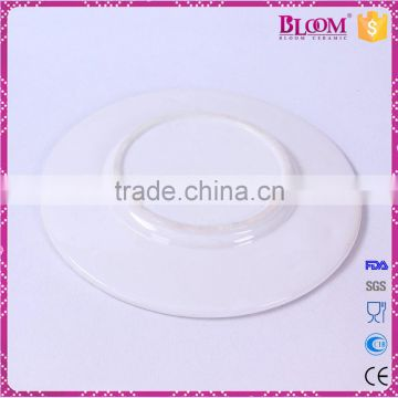 Hot sale wholesale ceramic white dinner plate