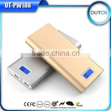 2015 fashion led display power supply mi power bank 16000mah