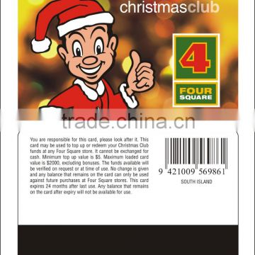 GUANGDONG PIRNTING PVC GIFT CARD