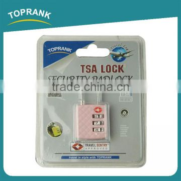 Toprank High Quality 3 Digits Plastic Security Combination Lock Portable TSA Luggage Lock