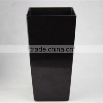 Home garden decorative black square type pots vases planters HP P02 17