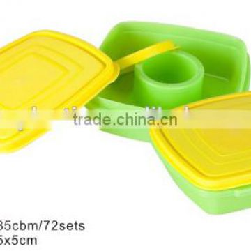 Promotional Plastic Children Square Snack Boxes TH-700