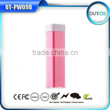Wholesale lipstick 2600mah manual for power bank with ce fc rohs
