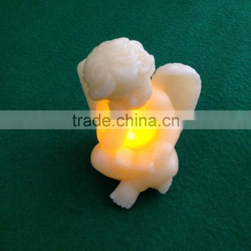 led flameless candle Christmas angel real wax led candle led angel candle light