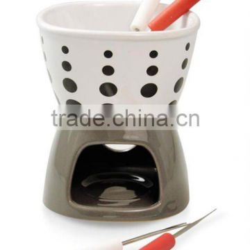 fondue set with 4pcs forks and candle