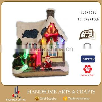 New Products Lights Decoration Christmas Village Houses Resin