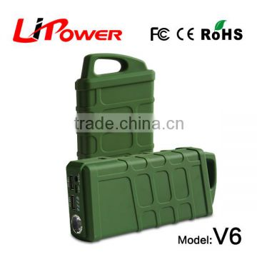 shenzhen factory offer 12000mAh 12v li-ion battery automobile battery jump starter with torch