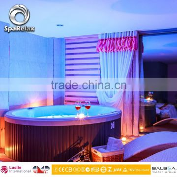 Round Shape Water Massage Bathtub/Indoor Whirlpools with LED lights --- (A400)