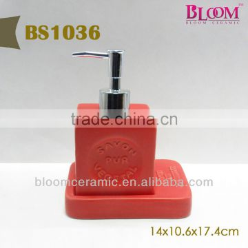 Cheap red ceramic lotion bottle