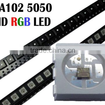 6 pin apa102 rgb led chip 0.2w, epistar 5050 rgb led apa102, addressable white led apa102