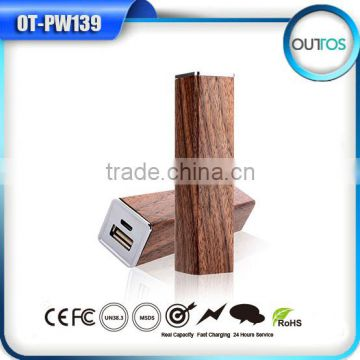 Portable emergency rechargeable charger wooden power bank