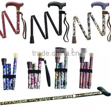 Folding walking stick for old people SZ17025F