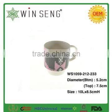 Fine drinkware ceramic coffee mug with ring