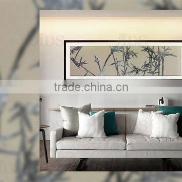 Framed Handmade Iron Progress Shadow Box Wall Decoration Bamboo Design Banner Painting
