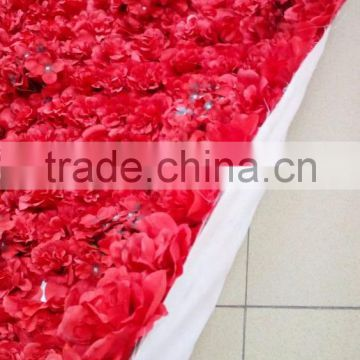 Easy carry newest rose flower wall for decoration in factory price