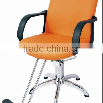 orange color lady's styling chairs old style classic salon chairs