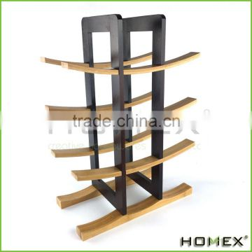 Bamboo wooden wine display rack/ Wine Bottle Holder Homex-BSCI
