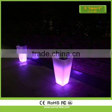 China wholesale exporters supply high brightness CE& RoHS certification outdoor solar led plant pot light