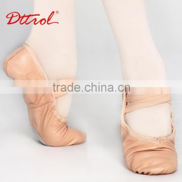 D004703 Dttrol split sole leather ballroom dance shoes wholesale slippers