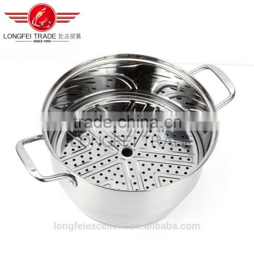 2016 china top grade stainless steel steam pot food steam cooking pot set