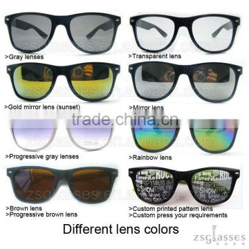 2012 Cheap Promotiona colorful frame/Plastic hinge /fishion glasses