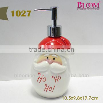 Christmas decoration santa claus shape shampoo bottle