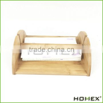 Bamboo decorative tissue holder/ tissue paper holder Homex-BSCI