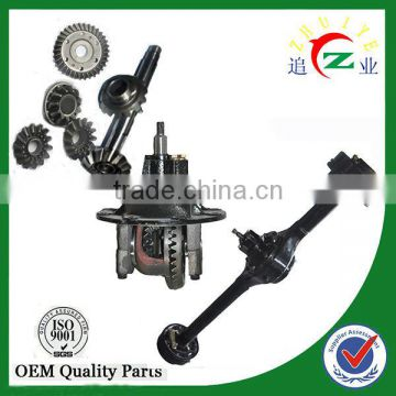 Minicar full floating rear axle with brake