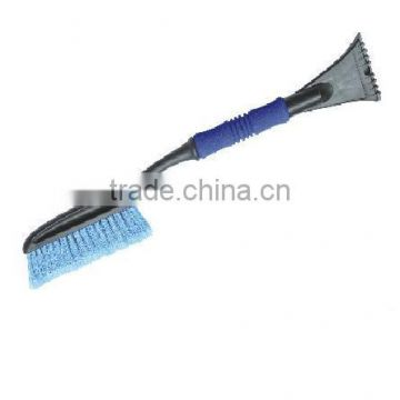 Car plastic snow scraper with snow brush, window wiper with snow scraper