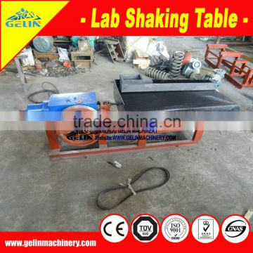 small scale lab vibrating table for gold recovery testing from Jiangxi