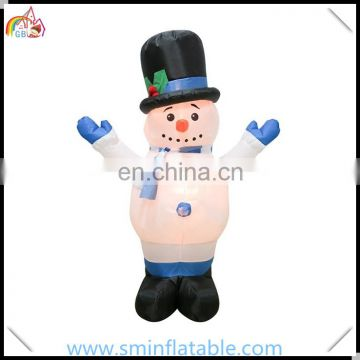 Promotion giant inflatable snowman, led christmas decor snowman with camouflage vest from china supplier