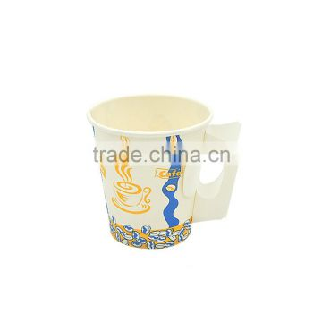 9OZ special printed customized handle paper coffee cup