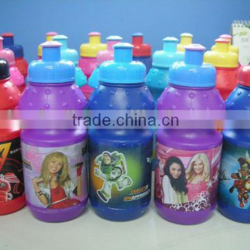 children plastic 350ml PE water bottle