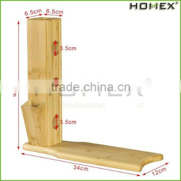 Free Standing Bamboo Wine Rack - Holds 3 Bottles Homex-BSCI
