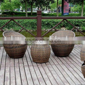 outdoor round rattan coffee table and chair
